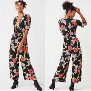 Urban Outfitters Black Floral Jumpsuit Pantsuit